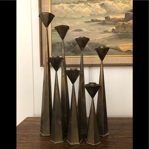 Brass Candlestick Set of 8